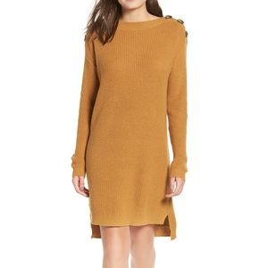 Bp button shoulder sweater dress